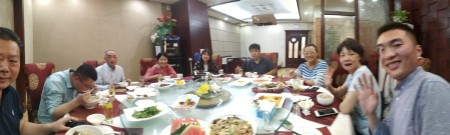 Dinner at Zhengzhou University